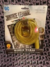 Wonder Woman Light Up Lasso Returned Rubies 34599 Dc Justice League Wonder Woman 3 Stage Light Up Lasso