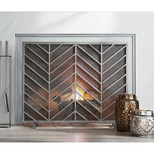 create a beautiful safe room with fireplace screens from crate and barrel browse fireplace