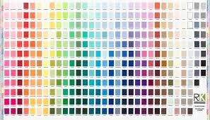Robert Kaufman Fabrics Kona Printed Color Chart Digitally
