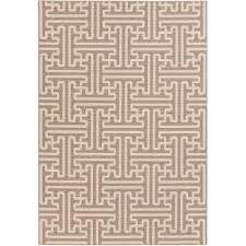 alf9599 76109 8 x 11 large camel and cream indoor outdoor rug alfresco
