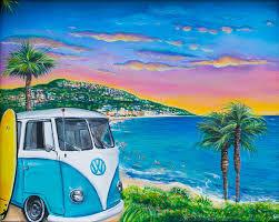 Laguna Beach Paradise Colorful Seascape Painting By Chelz