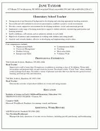 Free Teacher Resume Templates Microsoft Word Template Elementary School Teacher Resume Templates Microsoft Word 8