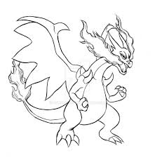 Small Picture Pokemon Coloring Pages Mega Charizard Ex Coloring Page Coloring