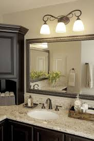 diy bathroom mirror frame. Diy Bathroom Mirror Frame Ideas Three White Shade Sconces Stainless Steel Faucet Glass Vase Table Clock R