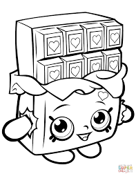 Coloring Pages Shopkinstable Coloring Pages Chocolate Cheeky