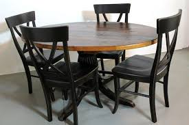 custom 50 round farm style dining table from old pine by ecustomfinishes reclaimed wood furniture custommade com