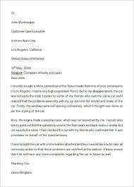 Letter Of Complaints Sample Formal Complaint Letter Template