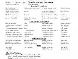 Wonderful Acting Resume Sample 14 Enjoyable Ideas For Actors 2