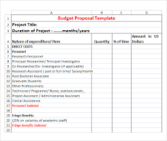 simple budget proposal template sample budget proposal project proposal template excel free