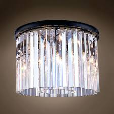 chandelier above kitchen table crystal clear glass prism round restoration hardware quality filament prisms parts cha