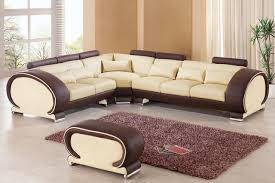 Italian Leather L Shape Sofa Furniture for Living Room EVA Furniture