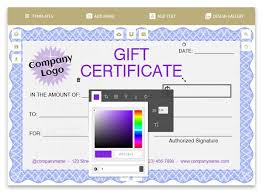 Gift Cards Maker Free Certificates Templates Borders Frames And More