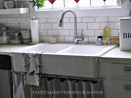 vintage kitchen ideas with farmhouse style double basin a sinks satin nickel tissue stand holder