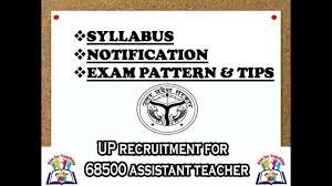 Up Assistant Teacher Primary Teacher Syllabus Notification Exam