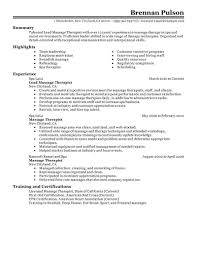 Massage Therapist Resume Examples Examples Of Resumes