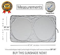 Windshield Size Chart Windshield Sun Shade Exact Fit Size Chart For Cars Suv Trucks