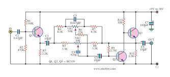 bass treble tone control circuit diagram eleccircuit com active tone controls by transistor