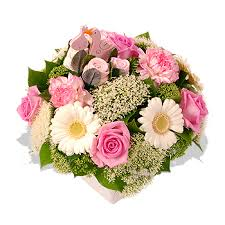 Image result for pink flower arrangements baby