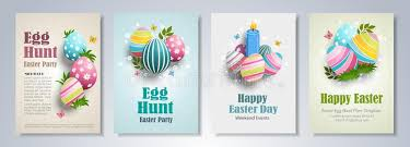 Easter Flyers Set Stock Vector. Illustration Of Invitation - 113330140