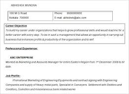 Objectives For Marketing Resume 11 Free Doc Marketing Accounts Manager  Resume Objective Template