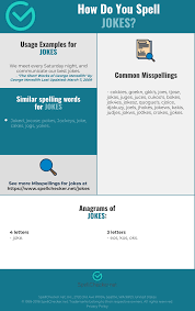 For over a century, the international phonetic alphabet has tried to remedy this situation by to make the task of writing in the phonetic alphabet more convenient, typewriters were modified or. Correct Spelling For Jokes Infographic Spellchecker Net