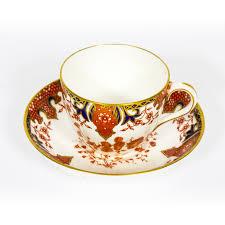 antique royal crown derby porcelain imari pattern tea set early 20th century