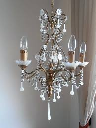wood and crystal chandelier antique tole and wood gilded white birdcage crystal chandelier glass crystals macaroni