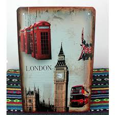 Small Picture London Tower old Bus Vintage Tin signs 2030 Shabby Chic Metal