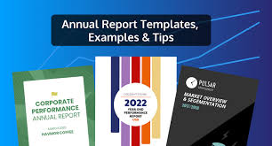 Modern Annual Report Template Withover Design Vector Image Templates