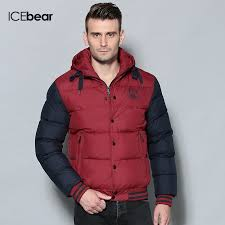 men jacket in winter specials icebear long warm young hooded new cotton padded coat big yards