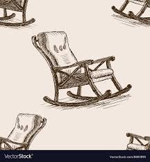 rocking chair sketch. Contemporary Sketch Rocking Chair Sketch Seamless Pattern Vector Image On Chair Sketch