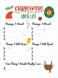 Cute Christmas Wish List For Kids - Download Free Vectors, Clipart Graphics  & Vector Art