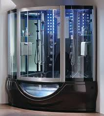 steam shower room with jacuzzi
