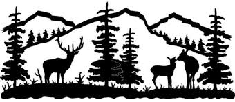 wildlife wall art silhouette