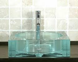 glass bathroom sinks. Picture Of Square Glass Vessel Bath Sink Bathroom Sinks S