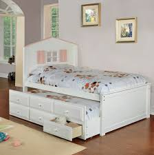 Twin Bed with Drawers underneath for Little Girls