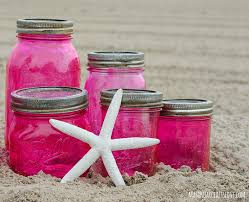 Pink Mason Jars DIY with Mod Podge and Food Coloring-6