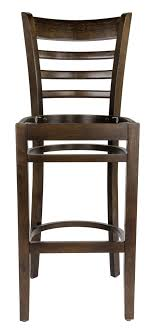 wooden seat bar stools. Walnut Finish Ladder Back Bar Stool With Wood Seat Wooden Stools