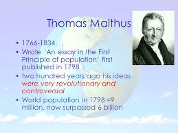 malthus boserup and the club of rome ppt video online thomas malthus 1766 1834 wrote an essay in the first principle of population