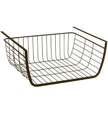 under desk wire basket under shelf storage basket bronze image desk wire basket trays under desk wire