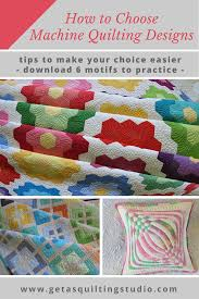 How to choose machine quilting designs - Geta's Quilting Studio & Not sure what to quilt on your favorite quilt top? Click through and learn a Adamdwight.com
