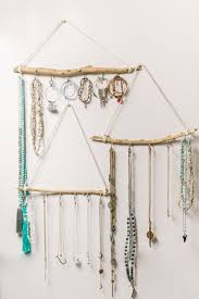 diy jewelry holder made out of sticks