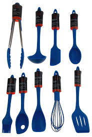 Chef Craft Blue Kitchen Utensil Set 9 Silicone Kitchen