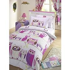 Amazon.com: GIRLS REVERSIBLE DOUBLE DUVET QUILT COVER CHILDRENS ... & Hoot Owl Lilac Duvet Cover Set - UK Single / US Twin Adamdwight.com