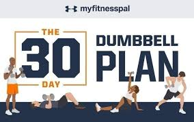 improve your fitness fast with this 30 day dumbbell plan