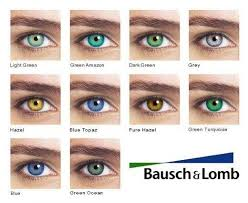 Contact Lenses Colour Chart Bausch Lomb Color Chart Contactlensesfordarkskin In 2019