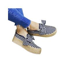 Walmart Time And Tru Size Chart Womens Bow High Top Platform Loafers Wedge Casual Slip On Striped Shoes
