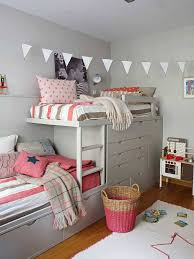 Small Shared Bedroom Bedroom Vibrant Shared Bedroom Idea With Loft Bed And Striped