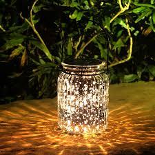 multi color outdoor solar jar design. Voona 2-Pack Solar Mercury Glass Jar Hanging Outdoor Light Multi Color Design