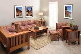 Craftsman style living room Interior Mission Motif Mission Style Living Room Set